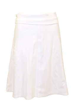 Hard Tail Knee Length A-Line Skirt with Rolldown Waistband B-126 - Product List Image