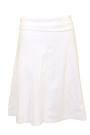 Hard Tail Knee Length A-Line Skirt with Rolldown Waistband B-126 - Product Mini Image