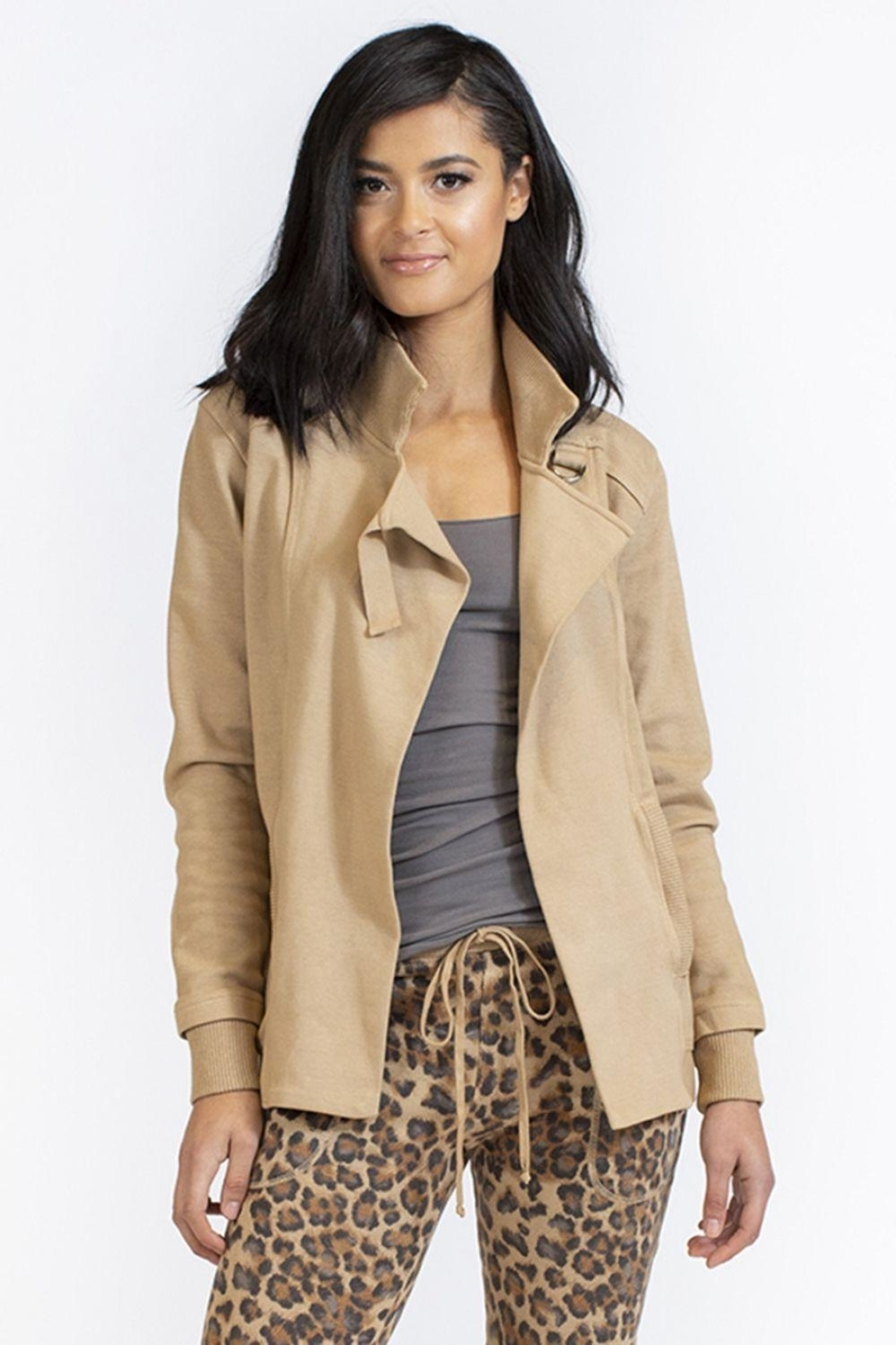 Hard Tail Forever  Carnaby Drape Coat - Front Cropped Image