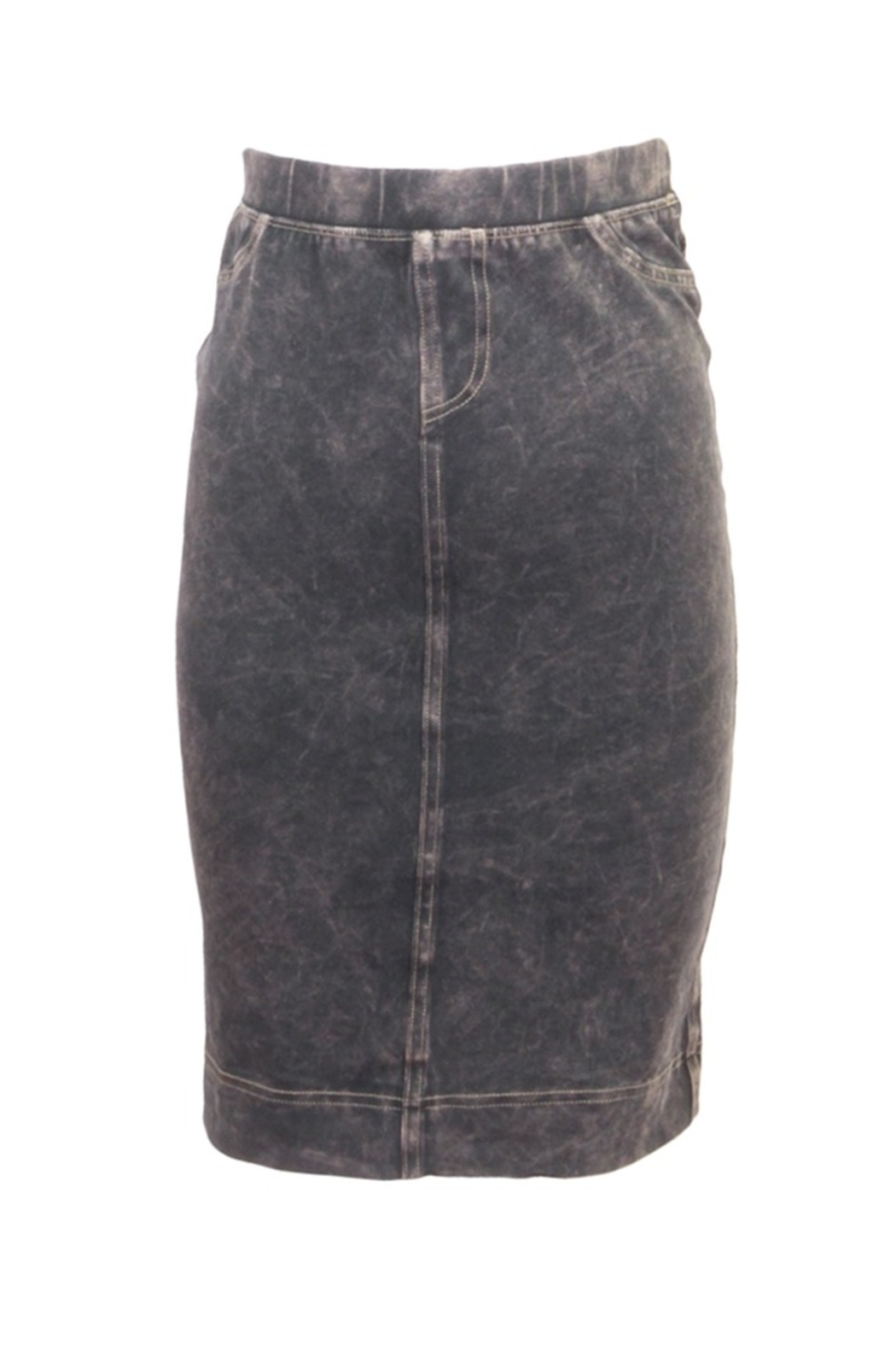 Hard Tail Hardtail Denim Pencil Skirt WJ-124 - Front Cropped Image