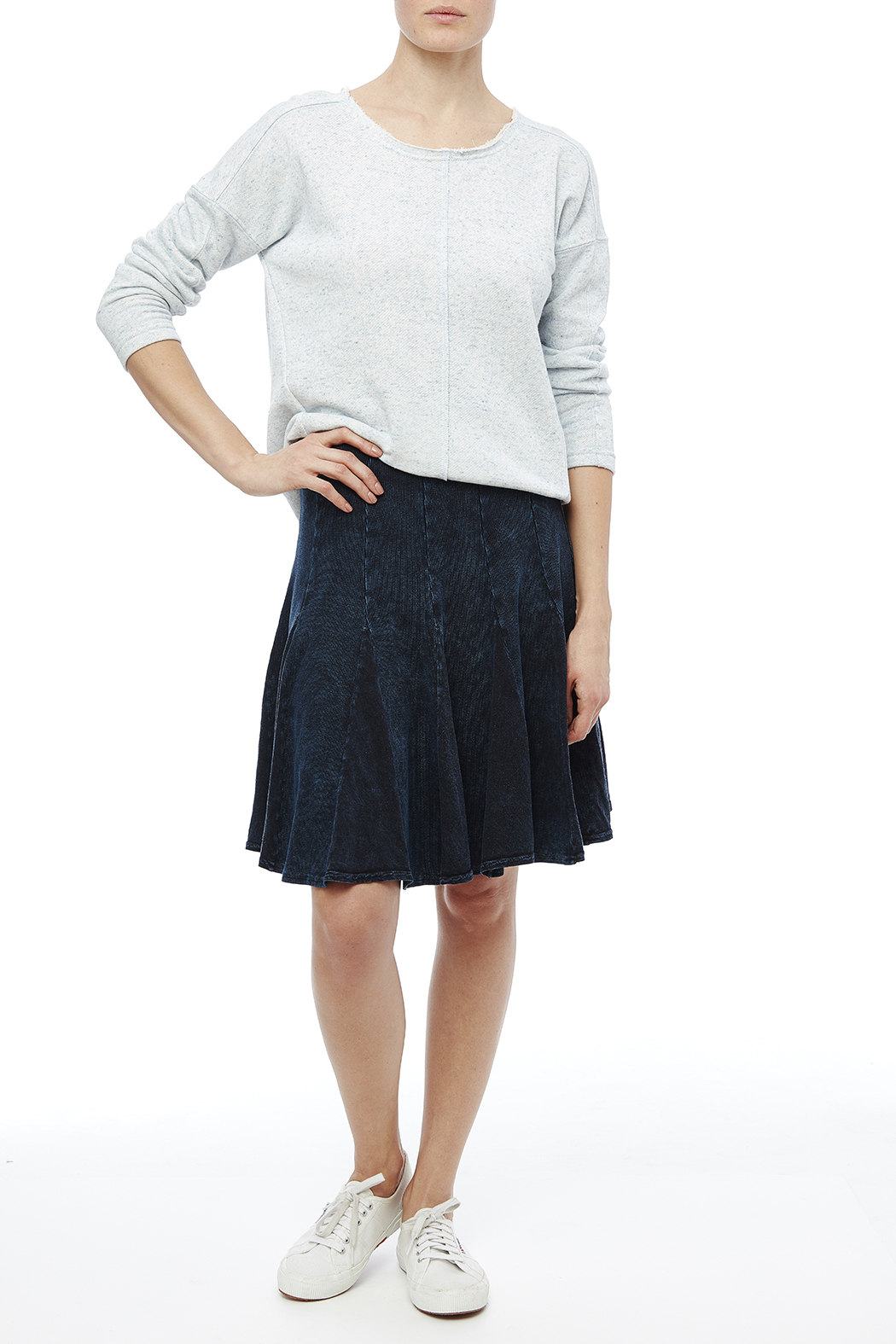Hard Tail Fit-N-Flare Skirt - Front Full Image