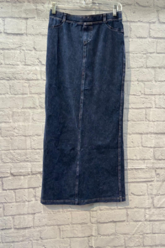 Hardtail Jean Style Maxi with Back Insert - Product List Image
