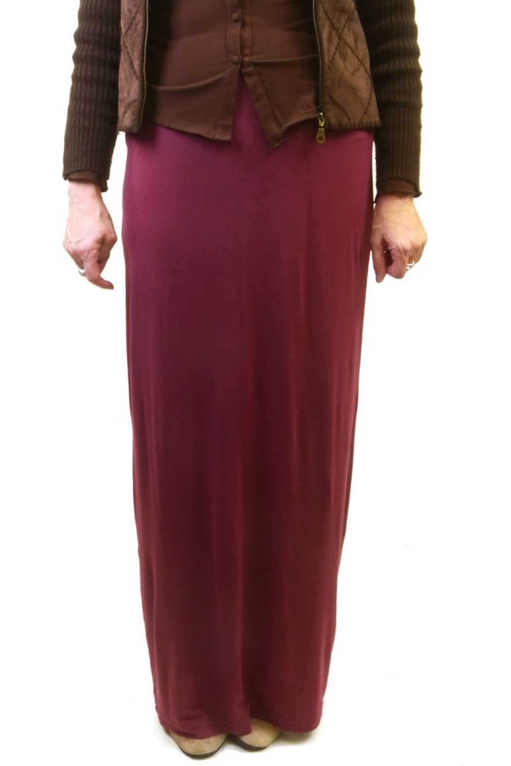 Hard Tail Hardtail Modal Maxi Skirt SIR-12 - Front Cropped Image