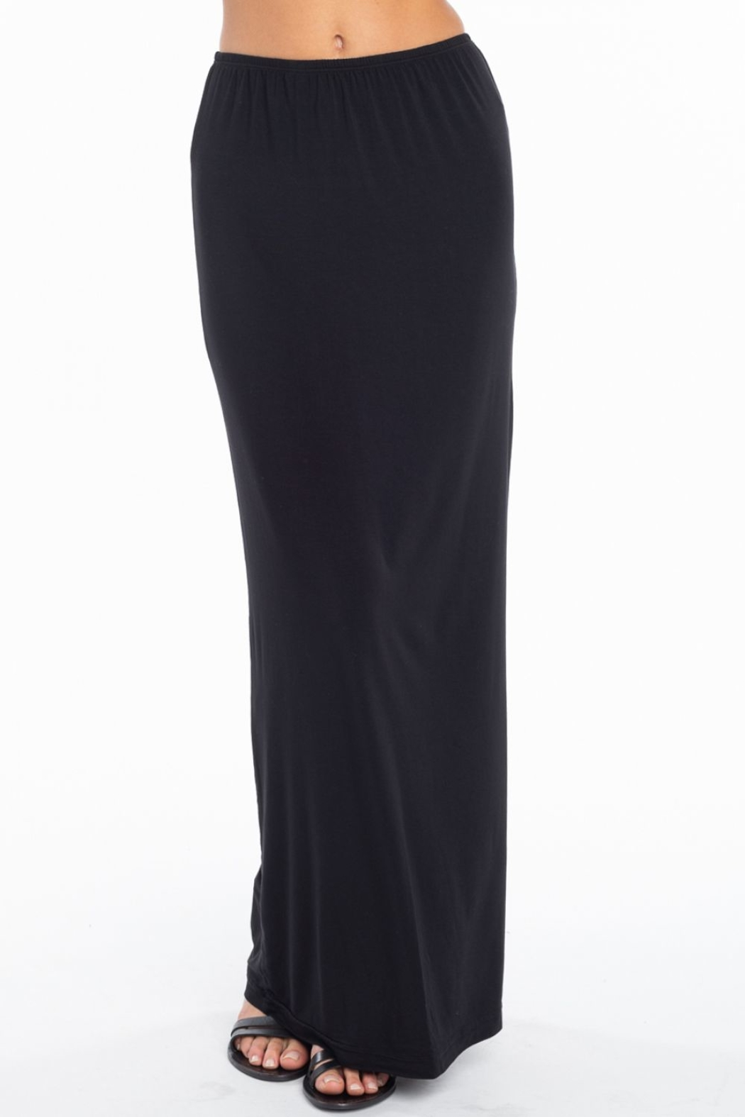 Hard Tail Hardtail Modal Maxi Skirt SIR-12 - Back Cropped Image