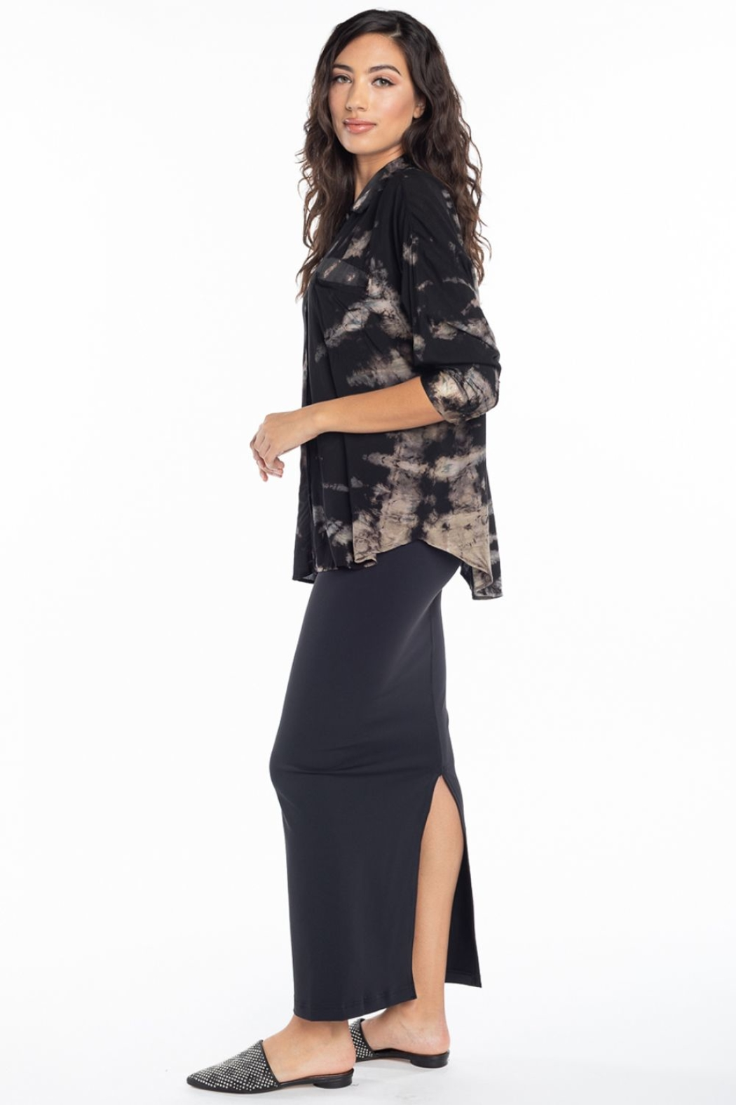 Hard Tail Hardtail Pencil Skirt SUP-19 - Back Cropped Image