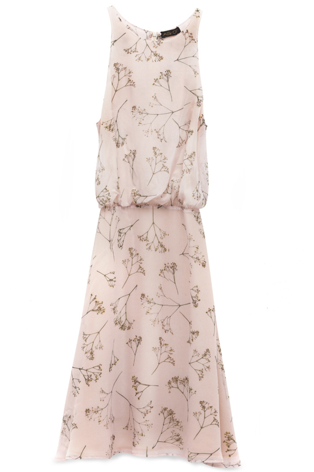 AS by DF HARLOW FIT AND FLARE DRESS - Back Cropped Image