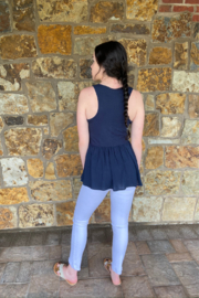 Others Follow  Harlow Ribbed & Button Tank - Front full body