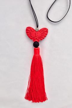 Shoptiques Product: Butterfly Tassel Necklace