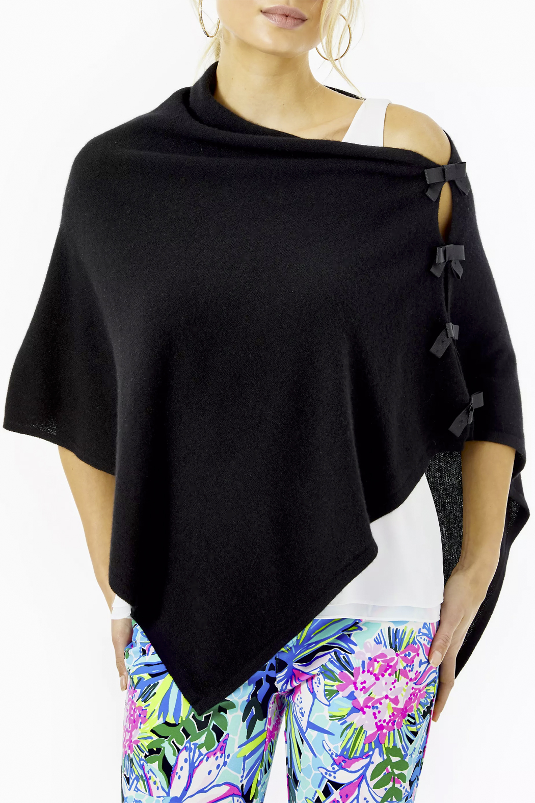 Lilly Pulitzer  Harp Cashmere Wrap with Bows - Main Image