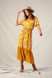 lucca couture Harriet Mix Print Maxi Dress - Product Mini Image