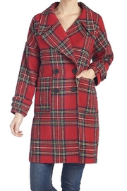 CoCo and Carmen  Harriett plaid trench coat - Front cropped