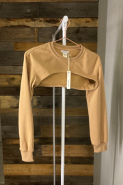crescent Harris Cropped Sweatshirt, Olive and Camel - Other