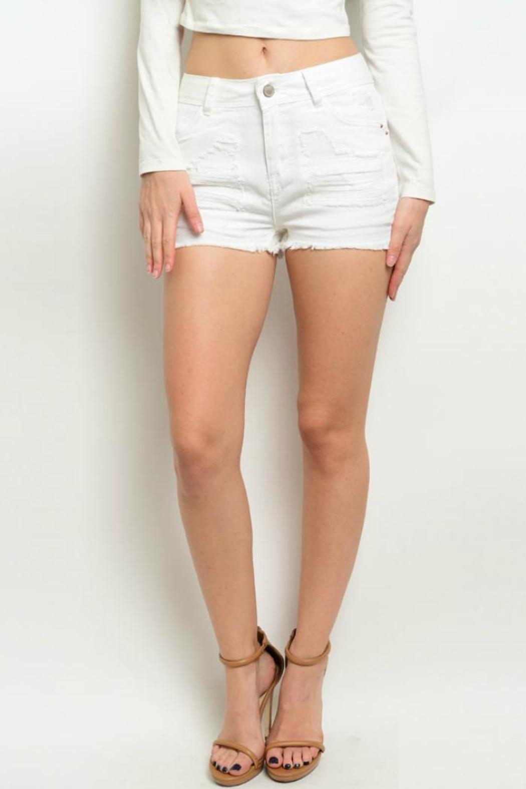 Hart Denim White Distressed Shorts from Colorado by twill tradE ...