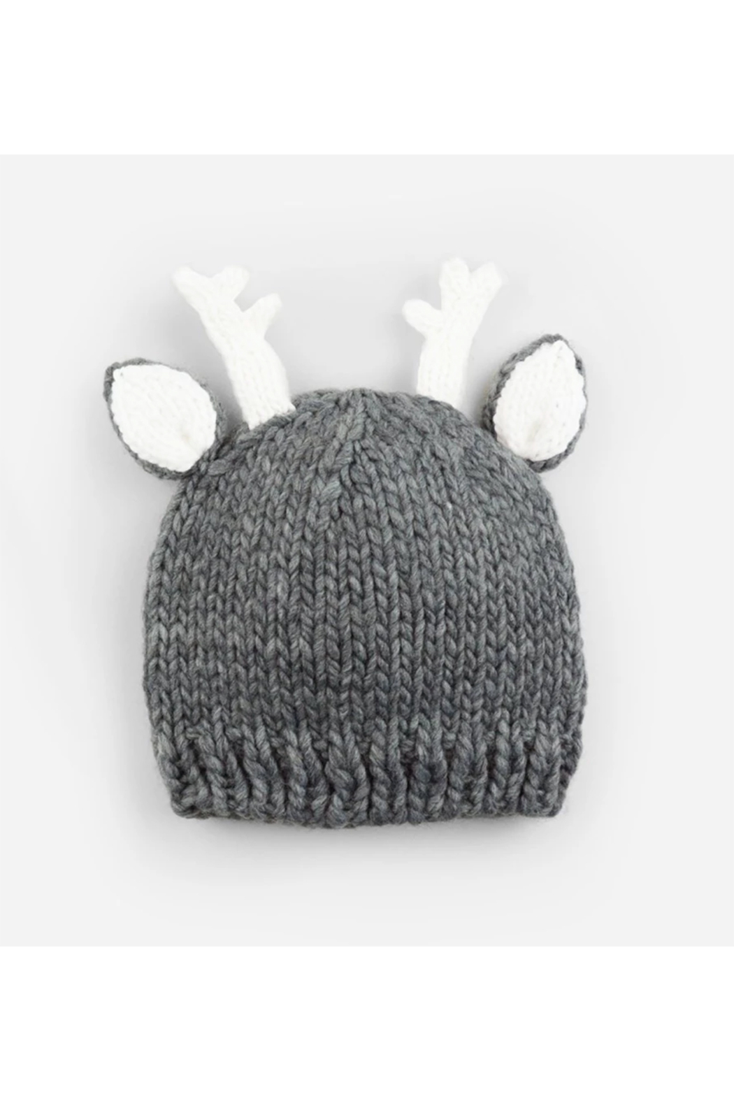 The Blueberry Hill Hartley Deer Gray Knit Hat - Main Image