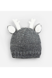 The Blueberry Hill Hartley Deer Gray Knit Hat - Front cropped