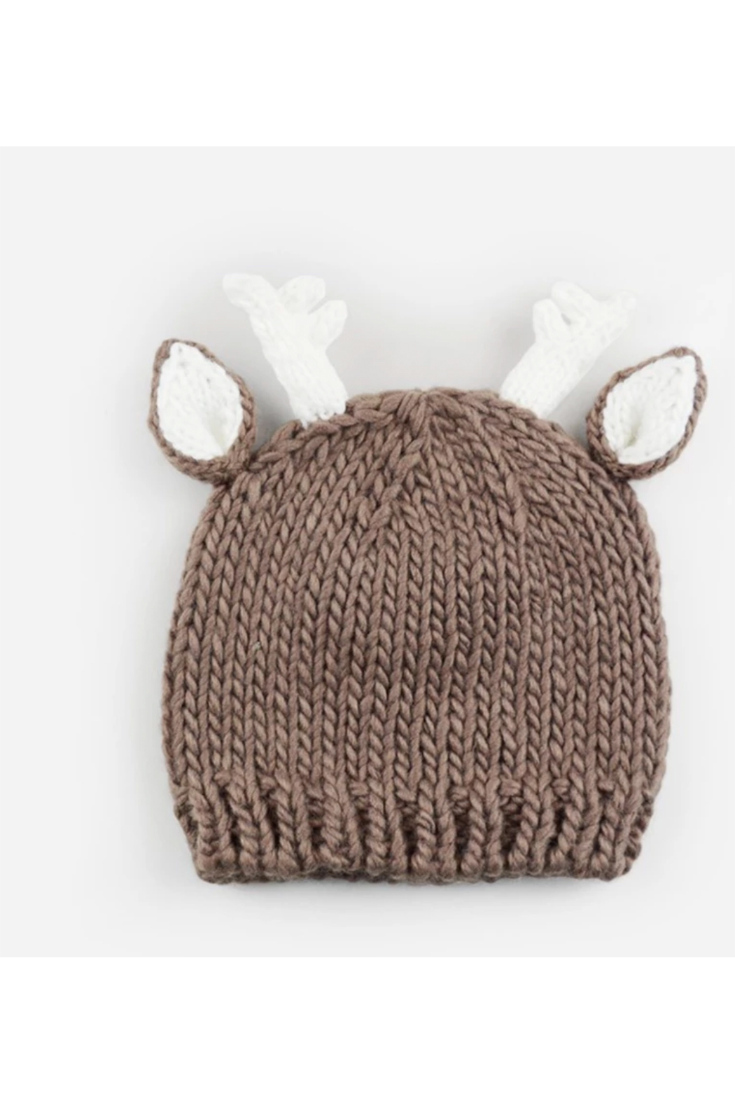 The Blueberry Hill Hartley Deer Tan Knit Hat - Front Cropped Image