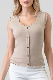 Hashtag Ribbed Tank - Front cropped