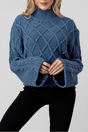 Hashttag Bell Sleeve Sweater - Front full body