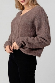 Hashttag Cable Knit Sweater - Front full body