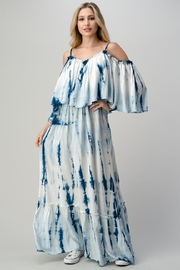 Hashttag Cold-Shoulder Tie-Dye Maxi - Product Mini Image