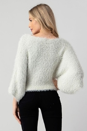 Hashttag Faux Fur Top - Back cropped