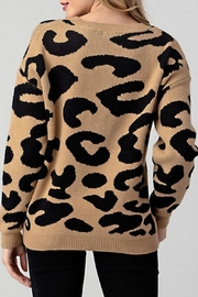 Hashttag Leopard Sweater - Side cropped