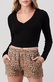Hashttag Ribbed Crop Top - Front cropped