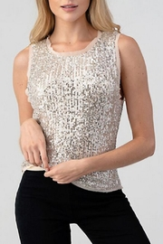 Hashttag Sequin Tank - Front cropped