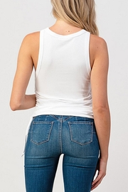 Hashttag Side Drawstring Tank - Side cropped