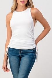 Hashttag Side Drawstring Tank - Front full body