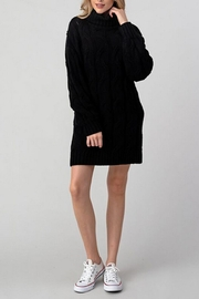 Hashttag T-Neck Sweater Dress - Front cropped