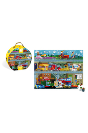 Janod Hat Boxed 100 Piece Vehicle Puzzle - Front cropped
