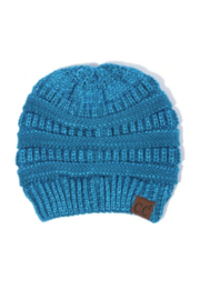 C.C Hat-cable knit 4 tone variegated color beanie - Product Mini Image