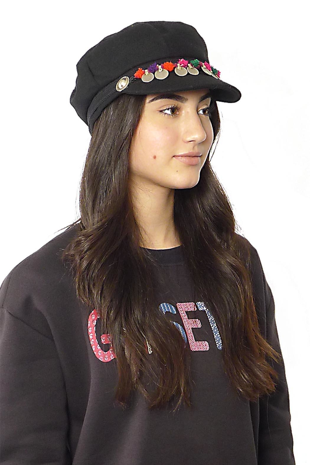 Gypsetters Hat Pompon - Front Full Image