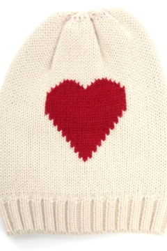 Shoptiques Product: Heart Reversible Beanie