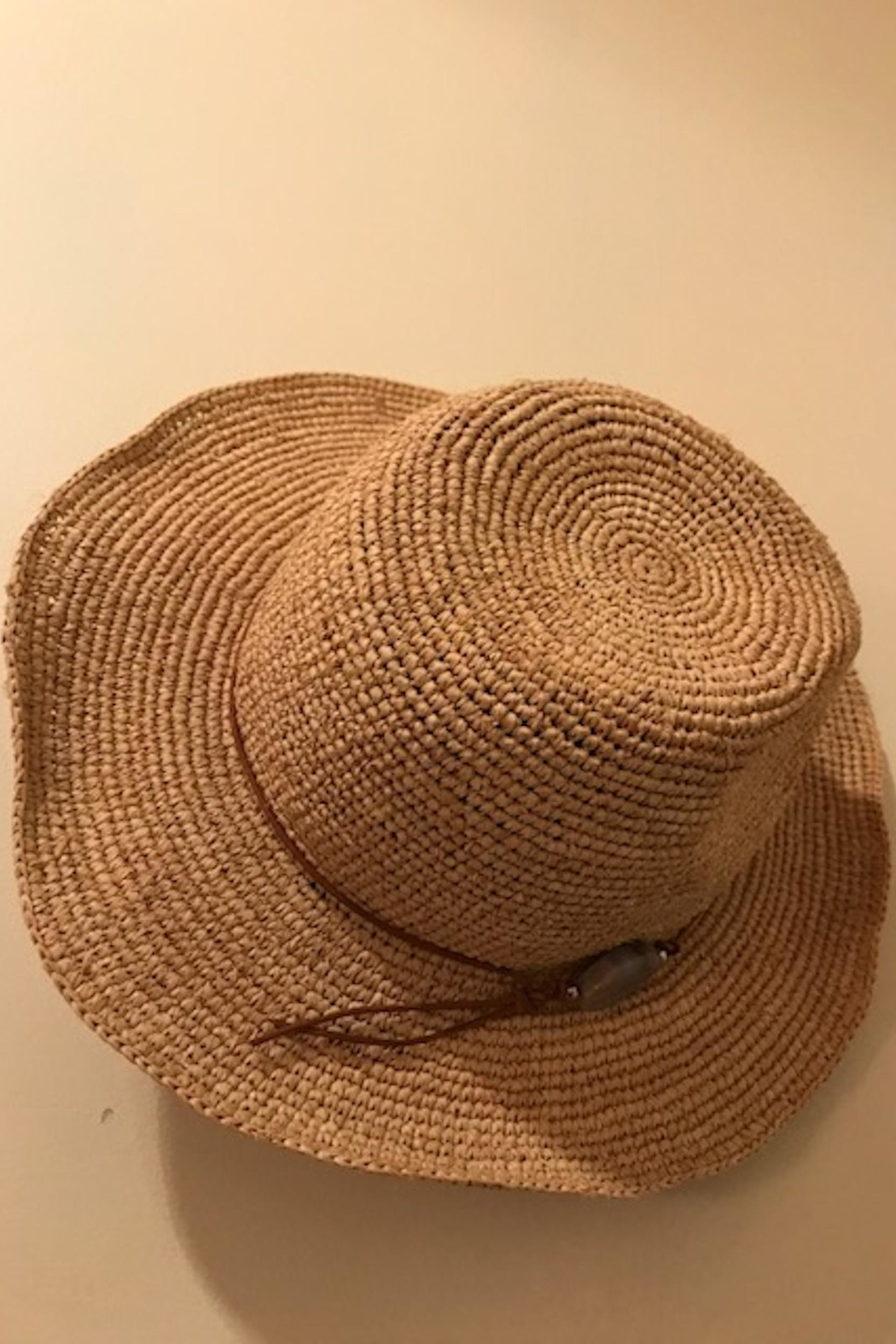 Hat Attack Straw Crochet Hat - Front Cropped Image