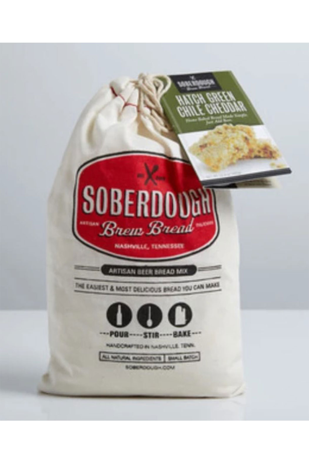 Soberdough Hatch Green Chili Cheddar Bread Mix - Front Full Image