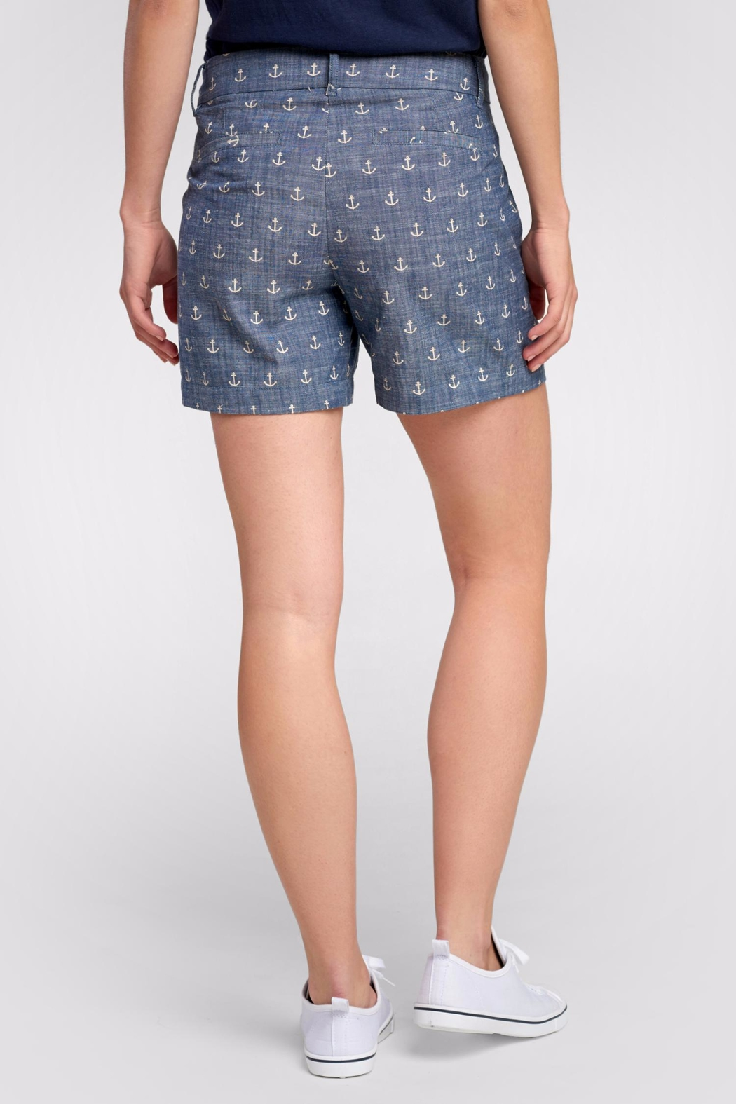 Hatley Anchor Cotton Shorts - Front Full Image