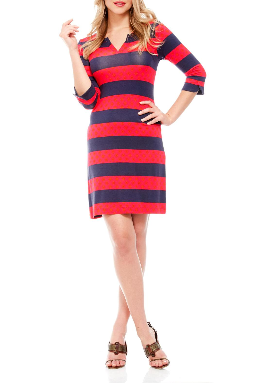 Hatley Aztec Stripe Dress - Front Cropped Image