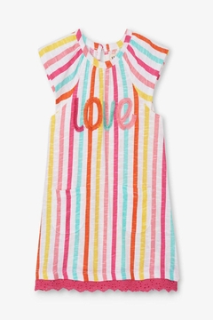 Shoptiques Product: Carnival Stripes Raglan-Dress
