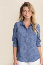 Hatley Cindy Shirt - Chambray - Front cropped