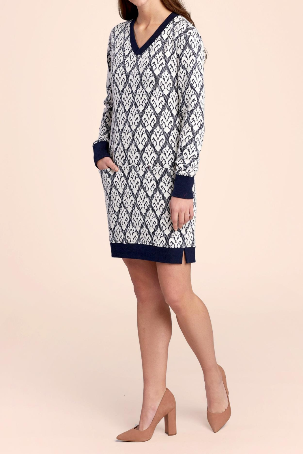 Hatley Knit Brocade Dress - Front Cropped Image