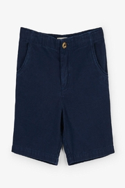 Hatley Navy Twill Shorts - Front cropped