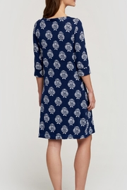 Hatley Navy Printed Knee Dress - Side cropped