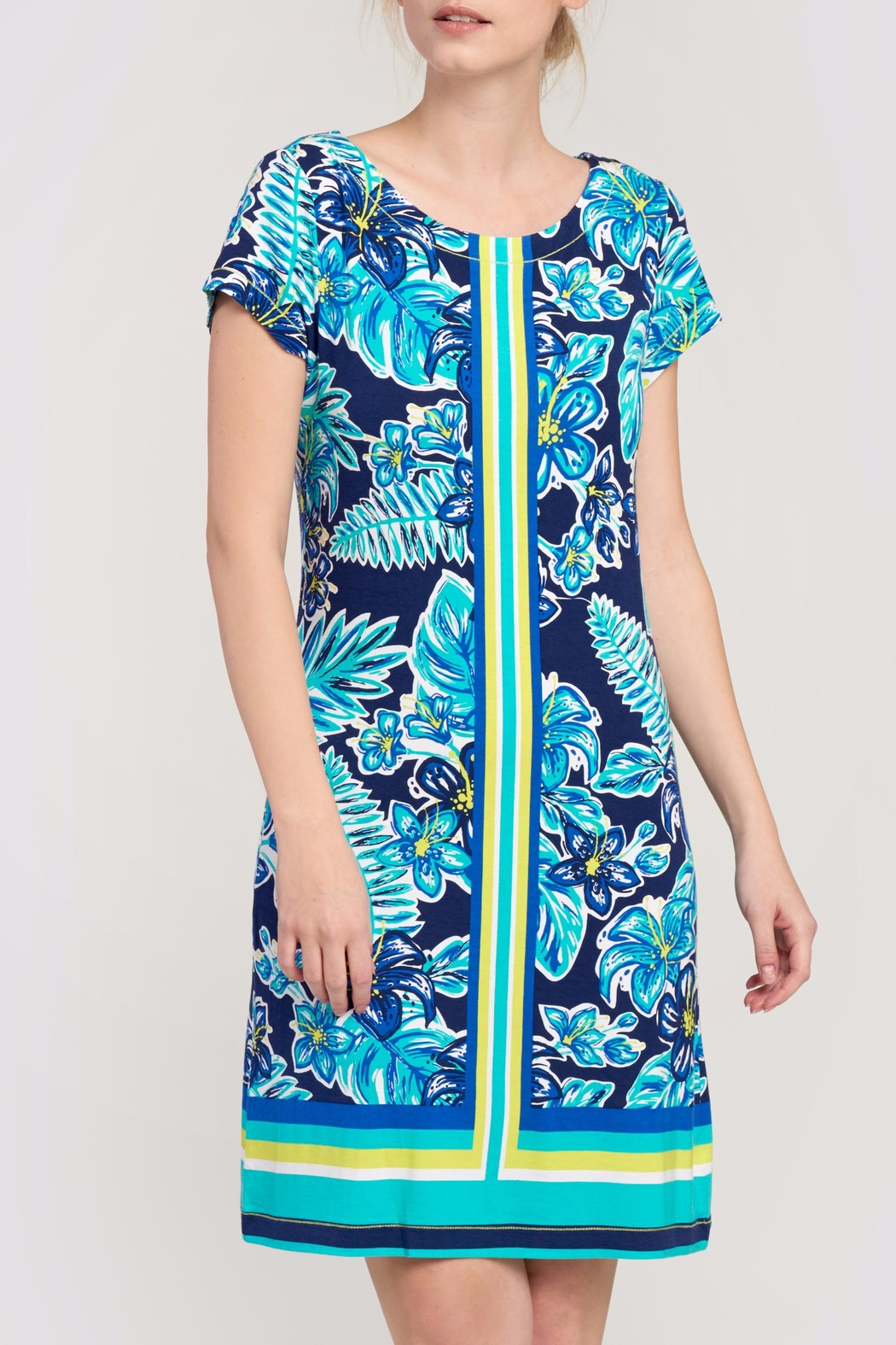 Hatley Print Shift Dress - Front Cropped Image