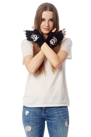 Skull Cashmere Hattie Fingerless Gloves - Product Mini Image
