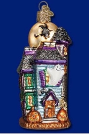 Old World Christmas Haunted House Ornament - Product Mini Image