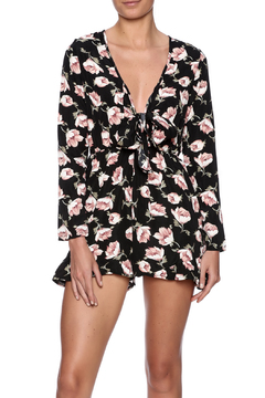 Shoptiques Product: Black Floral Romper