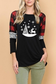 Haute Apparel Christmas Graphic Top - Product Mini Image