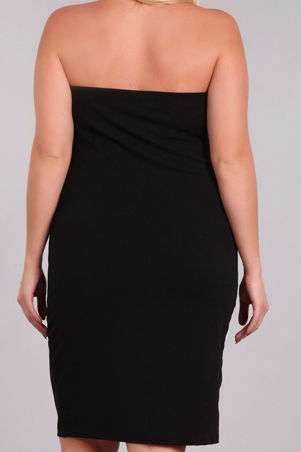 Haute Apparel Plussize Strapless Dress - Back Cropped Image